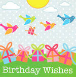 Female Birthday Card: Birdie Wishes