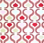 Blank Card General Pattern Pages Teardrop Design