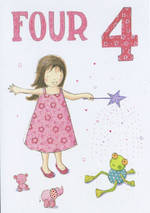 Birthday Age Card 4 Girl Tamsin Wand