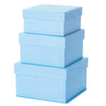 Small Gift Box Nest 3 Pale Blue