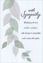 Sympathy Card Green Leaves