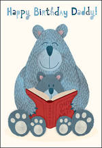 Dad Birthday Card Daddy Bears With Books