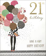 Birthday Age Card 21 Female Jaz & Baz