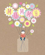Mum Birthday Card Pip & Me Vase Flowers