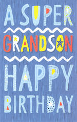 Grandson Birthday Card Super Blue