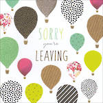 Sorry You're Leaving Card Jaz & Baz Air Balloons