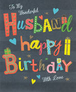 husband Birthday Card Bingo Bango