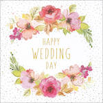 Wedding Card Jaz & Baz Floral