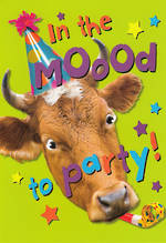 Humorous Birthday Card Roar Moood To Party