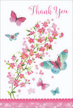 Thank You Card Butterflies