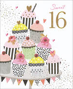 Birthday Age Card 16 Female Jaz & Baz