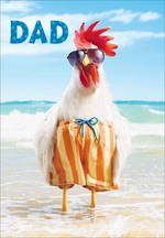 Dad Birthday Card Avanti Rooster