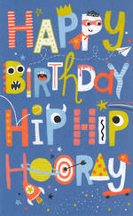 Kids' Birthday Card Boy Hip Hip Hoorah