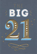 Birthday Age Card 21 Male Big