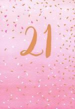 Birthday Age Card 21 Female Hello Neon