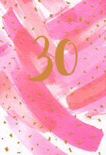 Birthday Age Card 30 Female Hello Neon
