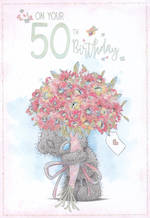 Birthday Age Card 50 Female Me To You Bouquet