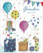 Grandson Birthday Card Balloons Gifts