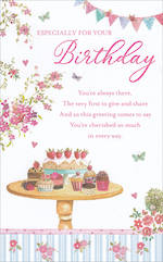 Birthday Card Female Tall Cherished So Much