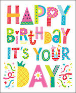 Birthday Card Female Tall Text Happy Birthday Your Day