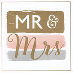 Wedding Card Hotchpotch Square Mr & Mrs