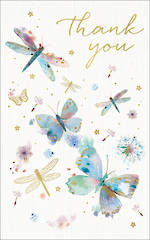 Thank You Card Dragonflies
