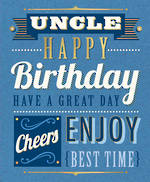 Uncle Birthday Card Talk The Type Text