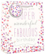 Large Gift Bag Premium Fabulous Birthday