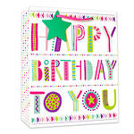 Medium Gift Bag Happy Birthday To You