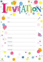 Party Invite General Circle