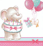 Mini Card Birthday Juvenile Elephant