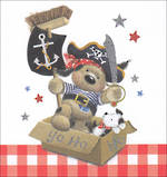 Mini Card Juvenile Boy Pirate Dog