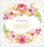 Mini Card Jaz & Baz Birthday Floral