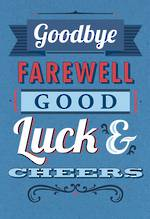 Jumbo Card Goodbye Good Luck Blue