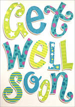 Jumbo Card Get Well Soon