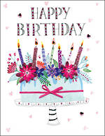 Jumbo Card All 4 One Female Birthday Cake
