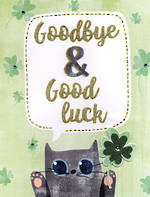 Jumbo Card All 4 One Goodbye & Good Luck Cat