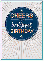 Copper Script Birthday Brilliant