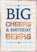 Copper Script Big Birthday Cheers