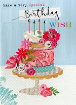 Floral Fancy Birthday Wish