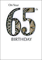 Birthday Age Card 65 Male Just A Number