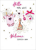 Baby Card Girl Irresistible Baby Girl Hello