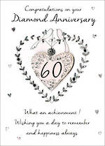 Anniversary Card 60th Diamond Just To Say