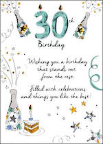 Birthday Age Card 30 Male Just To Say