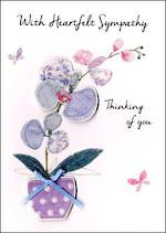 Sympathy Card Just To Say Orchid