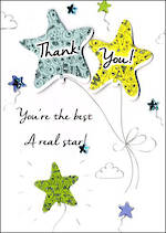 Thank You Card Just To Say Star