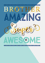 Brother Birthday Card Just To Say Amazing