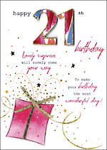 Birthday Age Card 21 Female Just To Say Gift