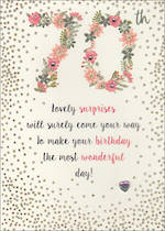 Birthday Age Card 70 Female Just To Say Floral