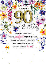 Birthday Age Card 90 Female Just To Say Perfect